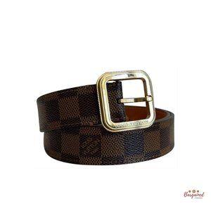 Authentic Louis Vuitton Damier Tresor Belt 85/34